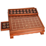 Yusheng Chinese Chess Set 5 points Solid Wood Chess Pack Big Size Household High-grade Wood Chess Board Table TX609