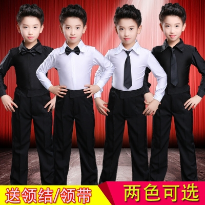 少儿男童拉丁舞蹈演出服儿童标准考级服专业比赛服男孩拉丁表演服