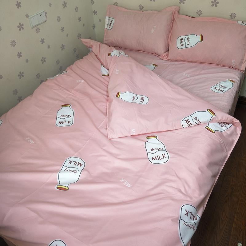学生床上用品三件套女卡通床上用品