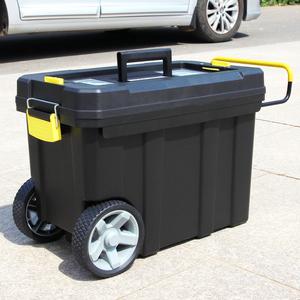多功能拉杆工具箱双层可移动工具箱大号塑料工具箱加厚带轮工具车