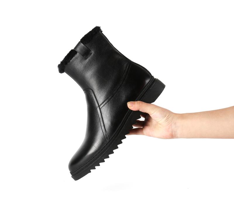 雪地靴男纯色