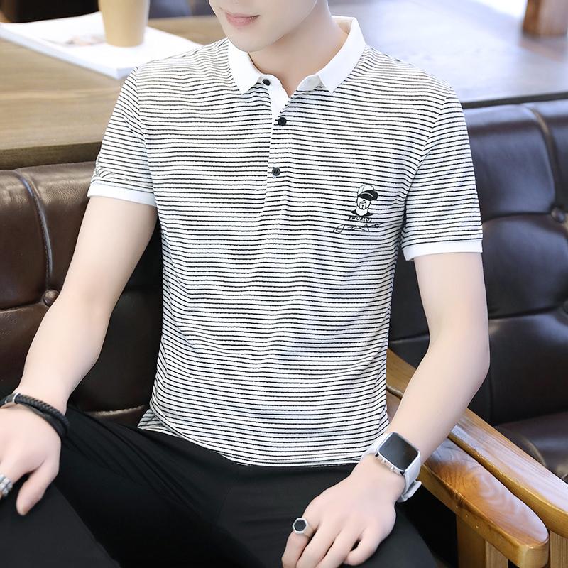 半袖个性polo衫