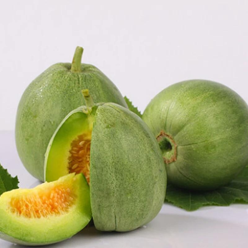 现摘绿宝石甜瓜新鲜孕妇水果超甜脆宝香瓜 当季非羊角蜜瓜5斤包邮
