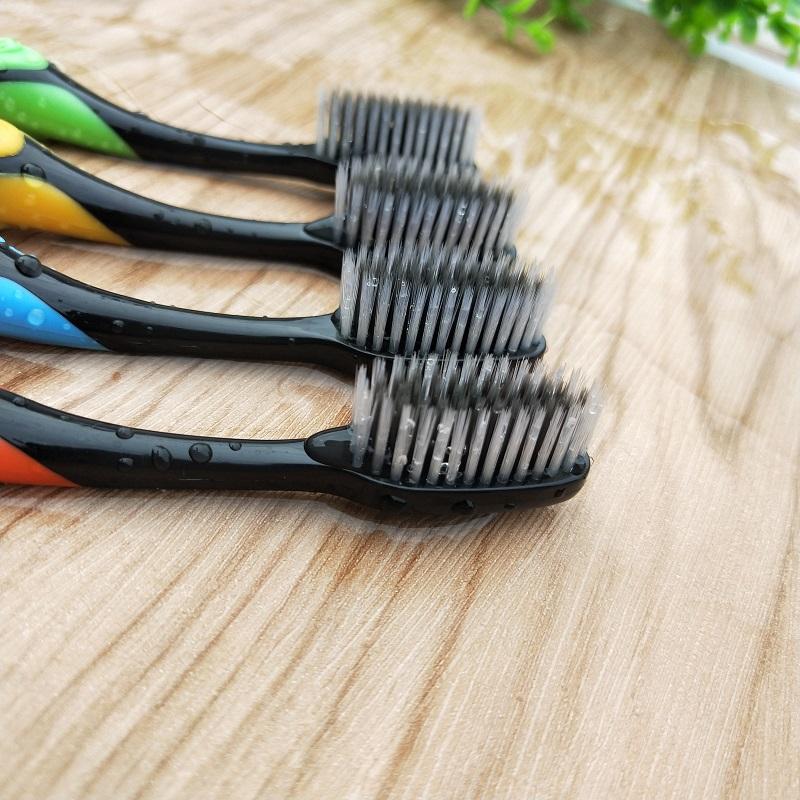 牙刷软毛成人款家用10支家庭装细竹炭纳米男女士专用组合套装批发