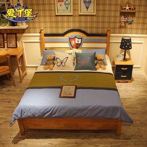 全实木儿童床男孩女孩公主床1.2米 1.5米青少年卧室家具套房组合