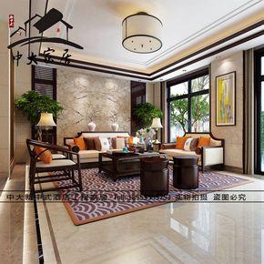 现代新中式水曲柳沙发实木售楼处样板房整装组合酒店家具定制