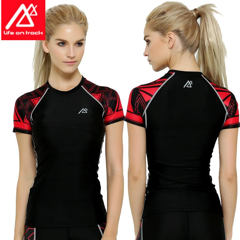 运动短袖女 夏季速干紧身衣训练服透气吸汗健身跑步t恤瑜伽上衣