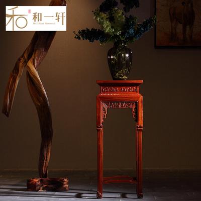 缅甸花梨木花架中式新品特惠