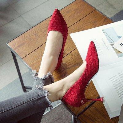欧美大牌花朵婚鞋绒面高跟鞋大东旗舰店官方同款2018早春新款女鞋
