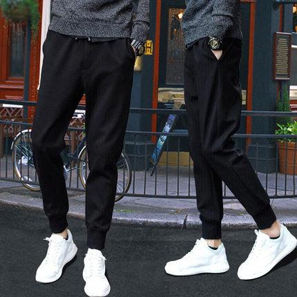 夏季男士速干休闲裤子男装便宜9.9包邮修身学生上班土工作超薄款