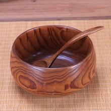 環保日式大木碗守舊準矣媚就范童吃飯拉面湯碗成人大號復古無漆