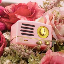 貓王radiooo多士小王子otr粉色 手機藍牙收音機音箱復古迷你音響