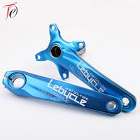 Mountain bike left and right crank hollow one tooth plate tooth plate middle shaft set modification upgrade single disk single speed