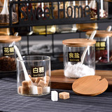 Kitchen seasoning box set household glass oil bottle pot salt pot combination ceramic seasoning bottle seasoning box rack