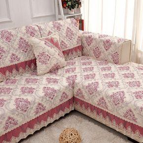 沙发垫布艺四季通用纯棉全盖防滑欧式坐垫简约现代组合沙发套罩巾
