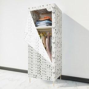 儿童组合简易衣柜单人衣橱小号学生宿舍木架经济厚折叠布衣柜迷你