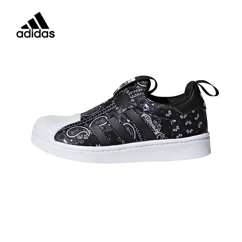 Adidas阿迪达斯童鞋2019新款男童运动板鞋中大童休闲跑步鞋F97630