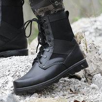 作战靴511作战靴男特种兵战术软底真皮07军靴cqb阅兵靴15正品超轻