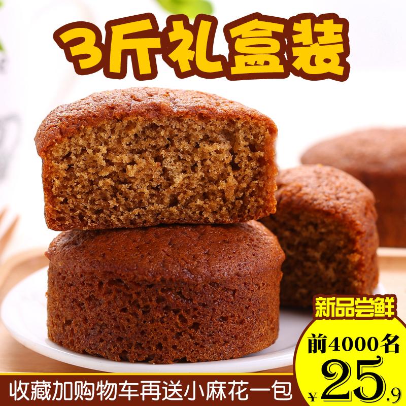 御稻村红枣泥蛋糕1500g传统糕点早餐整箱枣糕礼盒软面包山东特