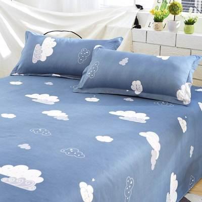 床上丝滑夏天夏季床单冰丝凉滑单子裸睡清爽薄被单件夏日双人床垫