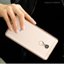 小米Note4手机壳Note4X防摔软硅胶保护套redmi4X超薄透明电镀红米