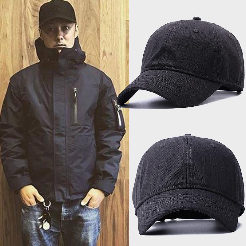 韩版新款水洗棉棒球帽男明星同款大头围帽子秋冬天遮阳大码鸭舌帽