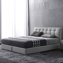 皮床真皮床 北欧简约现代主卧小户型1.8米齐边双人软床婚床储物床