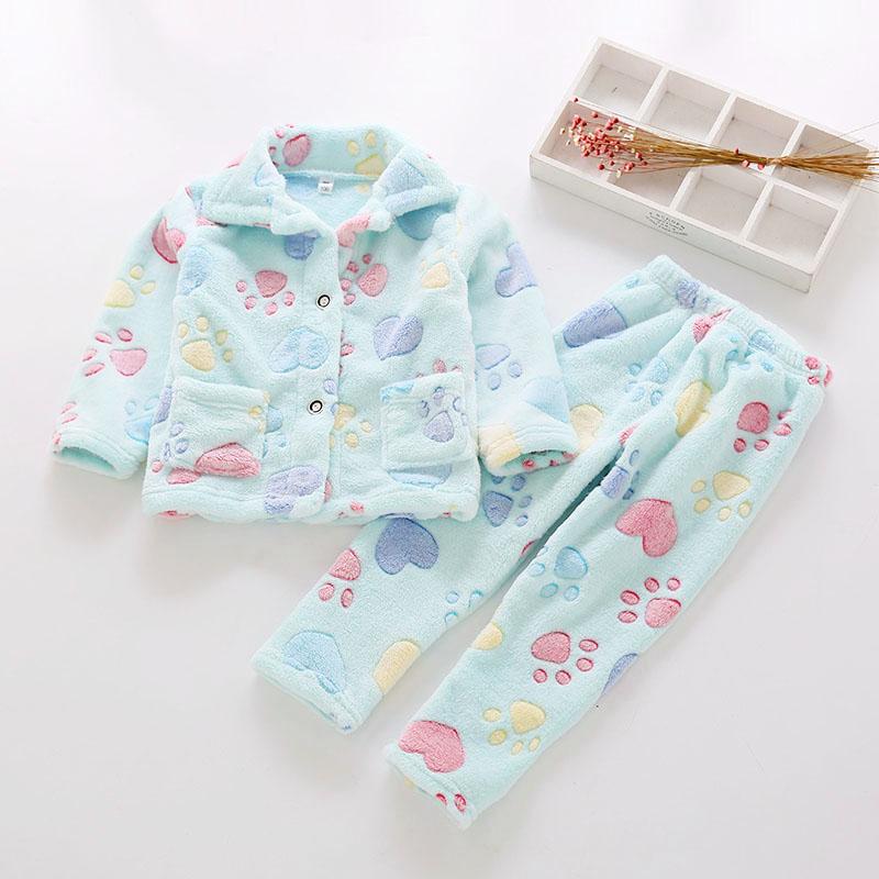 男童睡衣冬珊瑚绒法兰绒