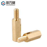 Copper column m3 hexagonal copper column chassis screw single pass nut column motherboard support column isolation column single head copper stud
