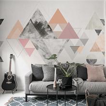 北欧客厅电视背景墙简约现代壁纸画几何墙纸卧室大型壁画无缝墙布