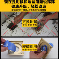 Floor drain, deodorant, silicone core, copper, stainless steel, bathroom, water pipe, pest control, floor drain, inner core