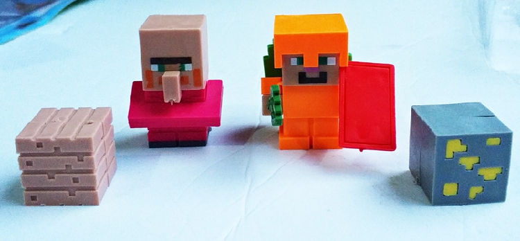 我的世界橡皮擦玩具MY WORLD拼装公仔积木DIY橡皮人儿童礼物包邮