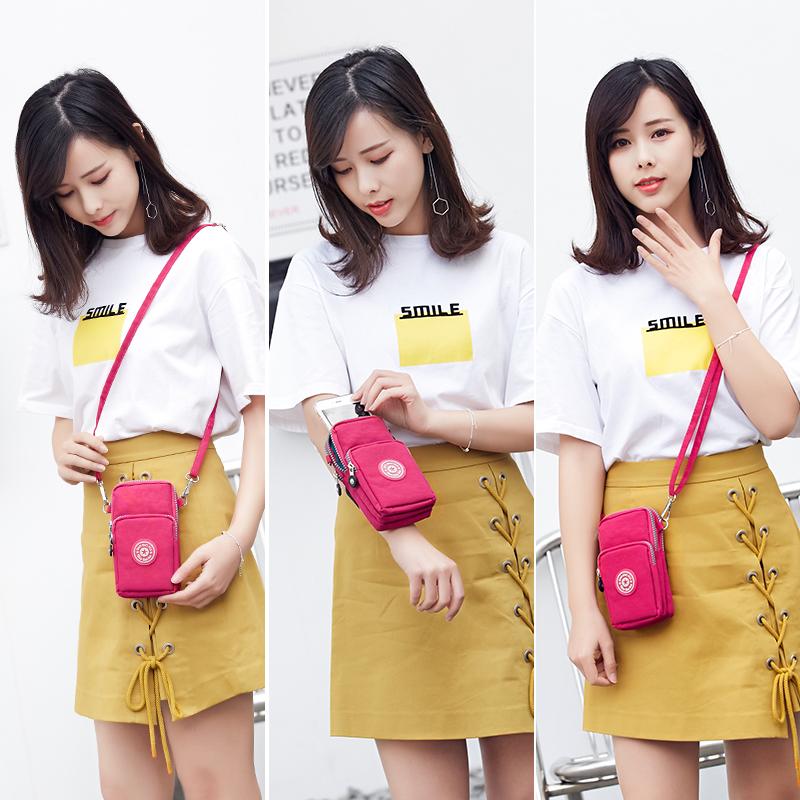 新款2018韩版手机包女斜跨手腕零钱包挂脖手机袋夏天迷你小包包竖