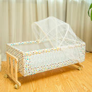 Send mat mosquito nets solid wood crib small shaker portable baby cradle bed cribs can swing 0-2 years old treasure