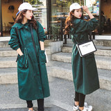 Pregnant women coat spring and autumn 2019 new pregnant women windbreaker maternity dress autumn loose long-sleeved Korean version of the tide mother