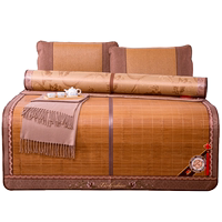 Mat decorated with bamboo mats 1.8m bed 1.5 folding double-sided mat summer single double bamboo mat 1.2 meters