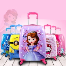 Blue ice and snow children luggage trunk box, cartoon suitcase, student fashion bag 18/19 inch