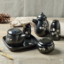 三分烧创意厨房调味瓶罐陶瓷胡椒粉佐料辣椒盐酱油醋瓶罐厨房工具