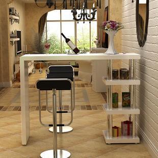 宜家家用客厅吧台酒吧烤漆实木吧台靠墙吧台桌客厅咖啡桌隔断柜