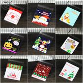 饼干 饰品袋 发100个圣诞万圣节礼品包装 自粘袋 糖果系列