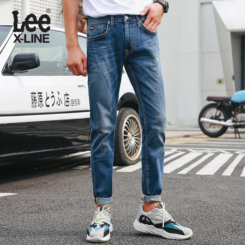 Lee2018春秋低腰修身小直脚九分牛仔裤男装潮 L117091VJ8MN,新款lee牛仔裤