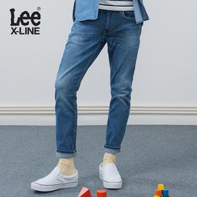 Lee2018春夏低腰修身小直脚九分牛仔裤男装潮 L117091VJ8MN