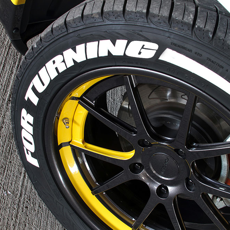 看灰机 汽车轮胎字母贴改装个性低趴轮胎贴纸轮毂装饰3D车贴