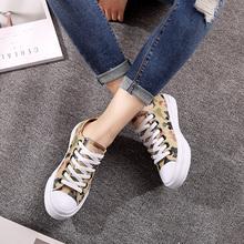 骆驼女鞋 春夏季学生帆布鞋ulzzang低帮鞋韩版平底百搭系带布鞋女图片