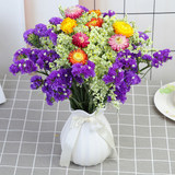 Yunnan natural forget-me-not dried flowers bouquet big bunch of real flower arrangement flower living room decoration ornaments starry to send vase
