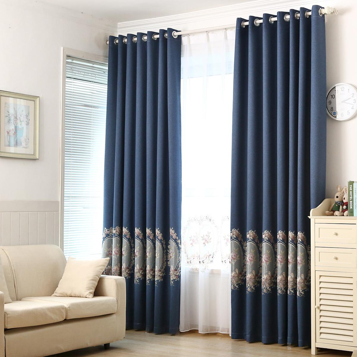 棉麻窗帘欧式高档客厅