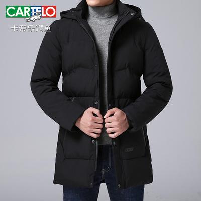 冬季棉衣男连帽中长款棉服韩版修身加厚款大衣保暖帅气潮流外套