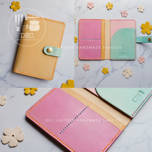 DEC. Vegetable tanning leather hand dyeing Free Engraving passport bag passport passport passport color matching zone