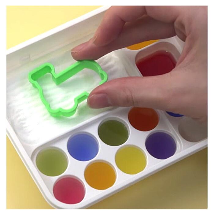 小伶玩具玲日本小小世界可食DIY食玩七彩调色板软糖手工儿童食完
