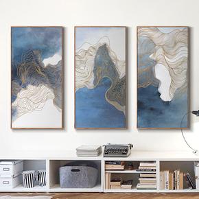 抽象装饰画客厅现代简约样板间挂画玄关走廊北欧风墙壁画卧室竖版